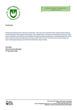 Testimonial - West Hoathley school