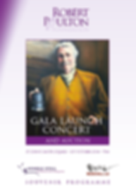 Gala Launch Concert Programme | Robert Poulton Foundation