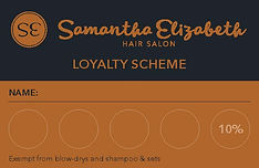 We offer a Loyalty Scheme to reward our regular customers