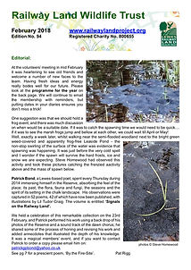 Railway Land Wildlife Trust Newsletter 94