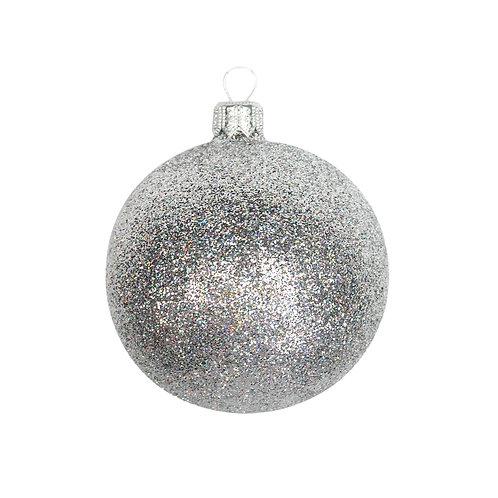 Silver Glitter Bauble