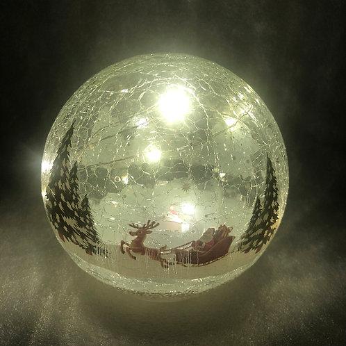 Crackle Effect Santa Sleigh Ball
