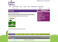 Ashdown Scouts website