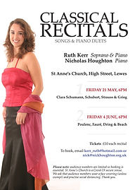 St Anne'd Recital - 4th June 2021 - with Ruth Kerr and Nick Houghton