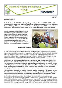 MWHG Newsletter Winter 2013