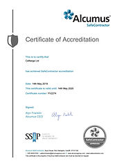 Celltarga Safe Contractor Certificate