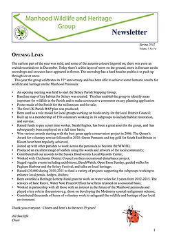 MWHG Newsletter Spring 2012