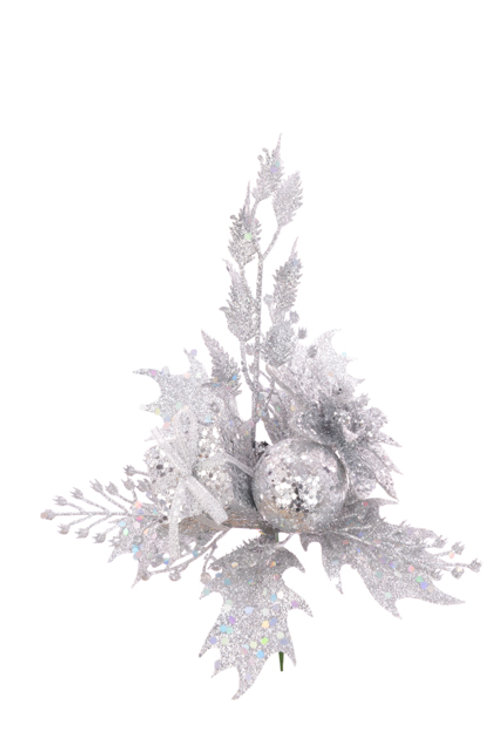 Silver floral decoration