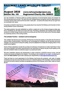 Railway Land Wildlife Trust Newsletter 101