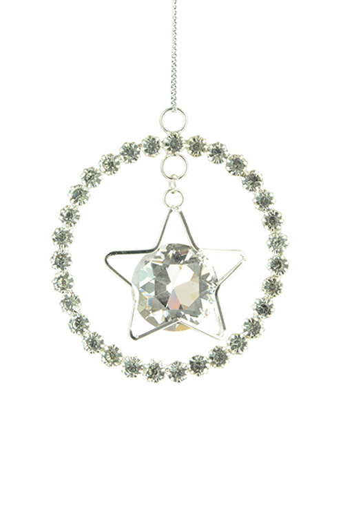 Crystal ring with star