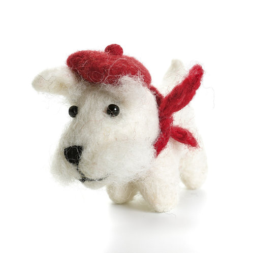White Scottie Dog with Tam O'Shanter