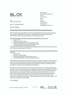 Testimonial from Blox Architects
