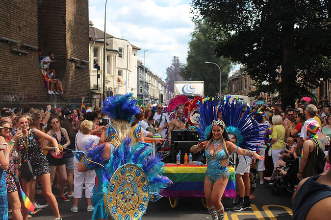 The Brighton School of Samba is the city's original Rio samba school and brings a taste of the vibrant Rio Carnival to the streets of Brighton and beyond for members, audiences and the wider community.