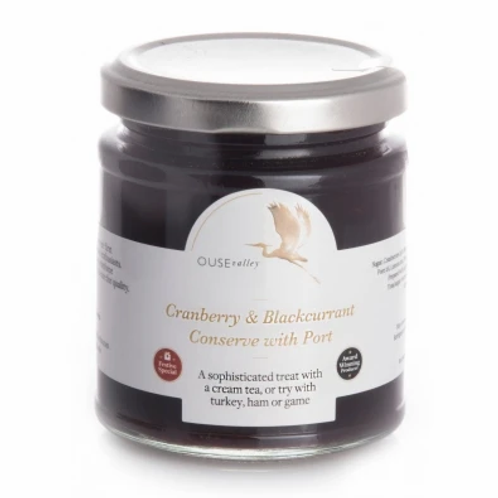 Cranberry & Blackcurrant Conserve with Port from Ouse Valley Foods