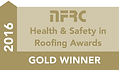 Richard Soam Roofig Services were awarded The National Federation of Roofing Contractors Gold Award for Health & Safety 2016