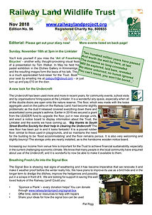 Railway Land Wildlife Trust Newsletter 96