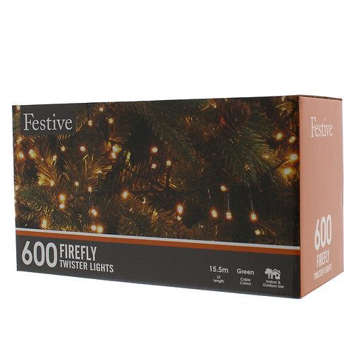 600 Firefly LED lights - warm white