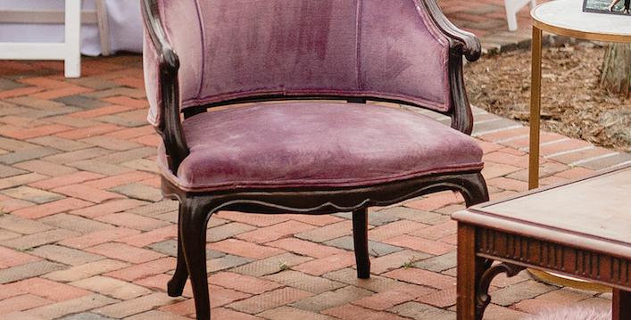 Lavender Vintage Velvet Chairs (2)