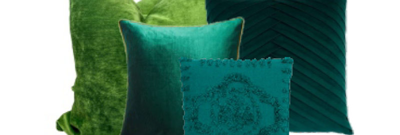 Assorted Emerald Pillows