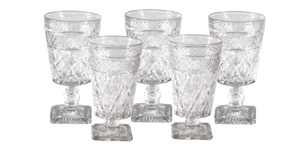 Mismatched Crystal Goblets