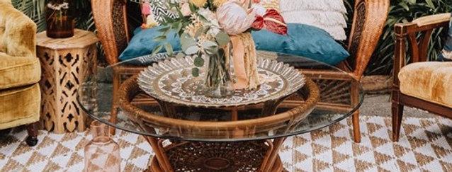 Maryam Wicker Coffee Table