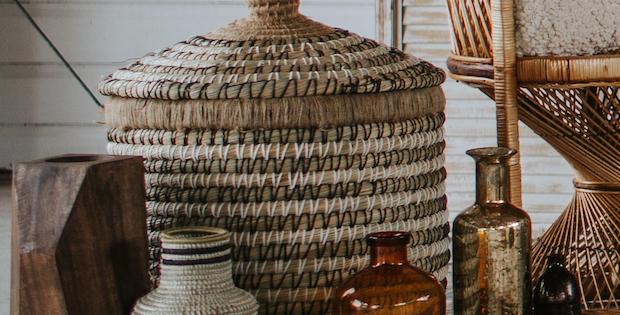 Assorted Boho Weaved Baskets