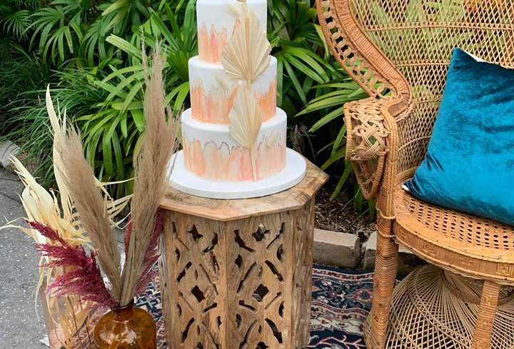 Moroccan Wood End Tables