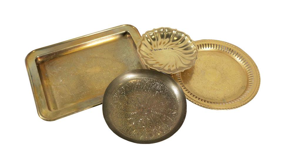 Assorted Brass Trays