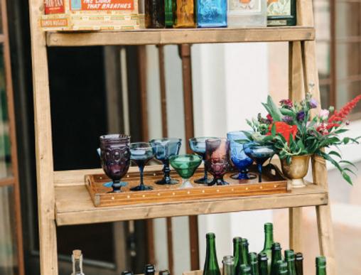 Wooden Bar Shelf