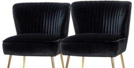 Avery Black Velvet Chairs