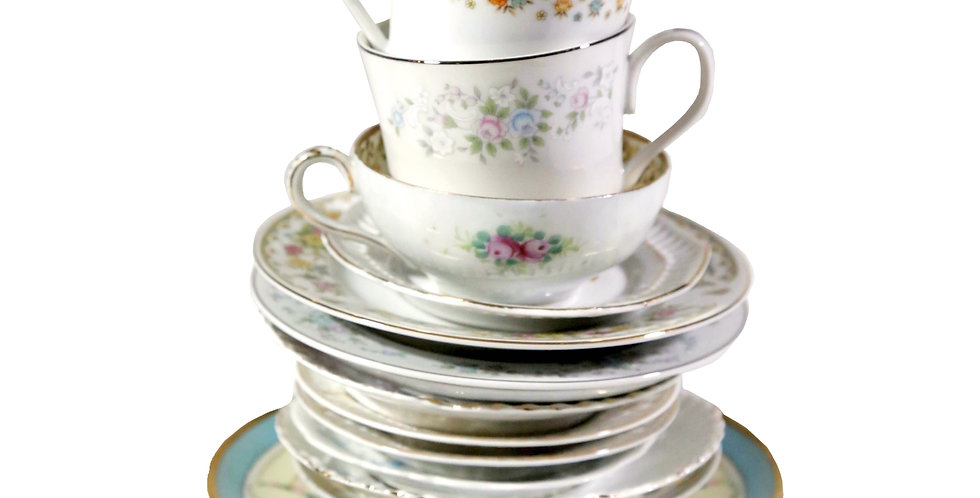 Assorted Teacups & Saucers