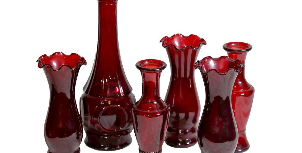 Ruby Glass Vessels
