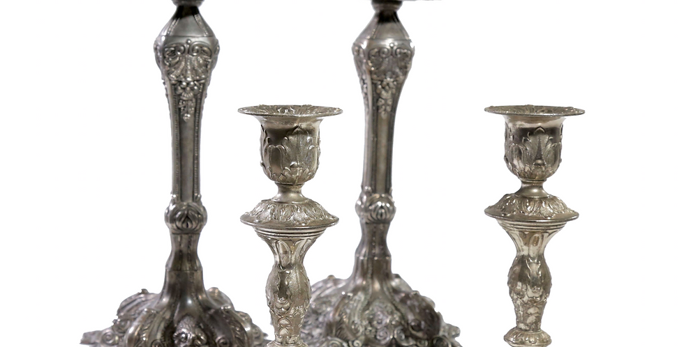 Ornate Silver Candlesticks