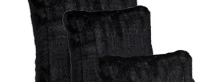 Assorted Black Pillows