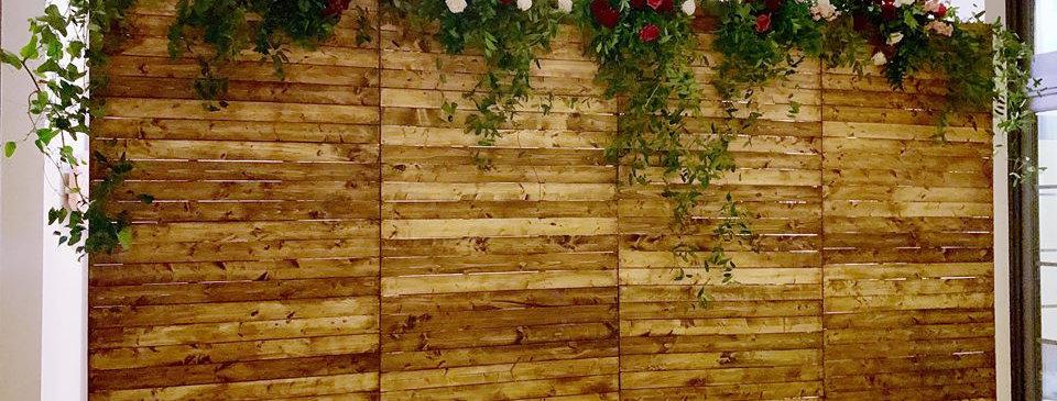 Customizable 20ft Farm Wood Backdrop