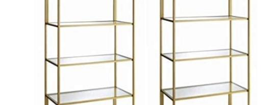 Monroe Gold Shelves
