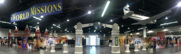 22,000 ft trade show display area for the World Missions Summit