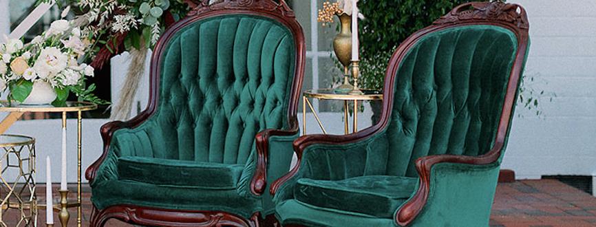 Sofia Emerald Velvet Chairs