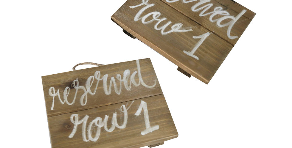 Reserved Mini Wooden Signs