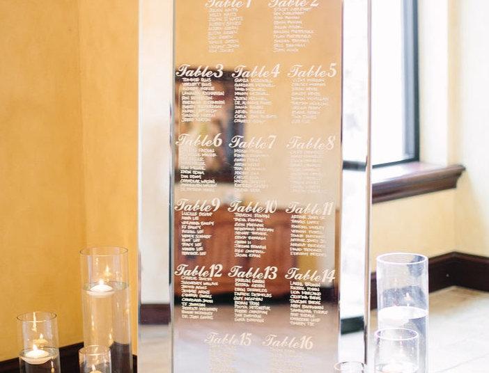 Large Mirror Seating Chart