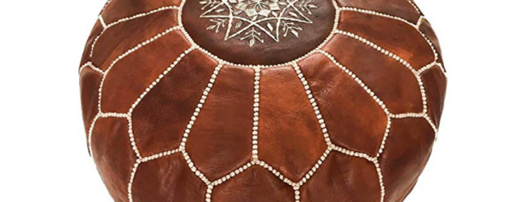 Moroccan Leather Poofs