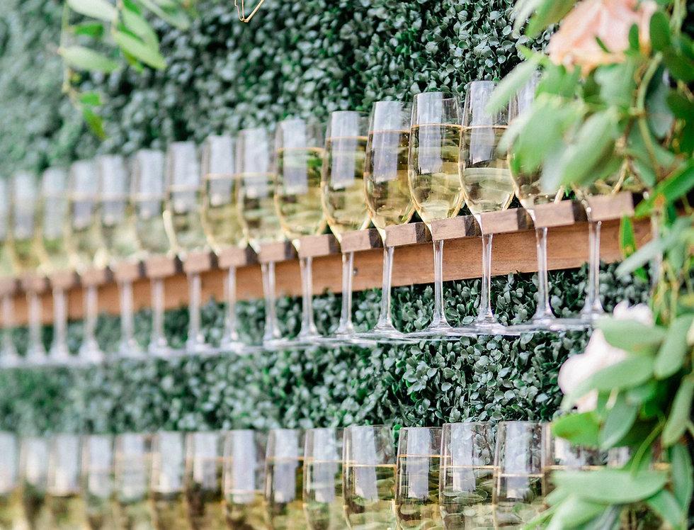 Champagne Hedge Wall Display