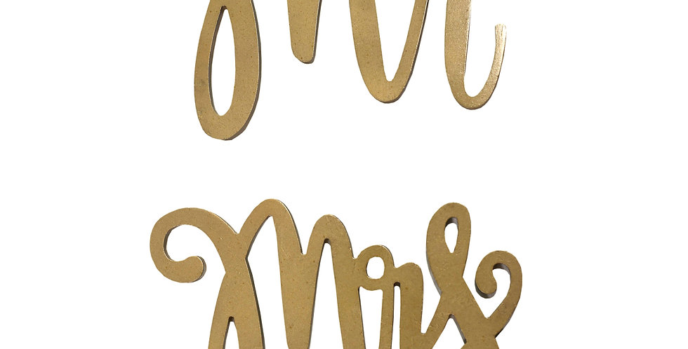 Mr. & Mrs. Wooden Chair Signs
