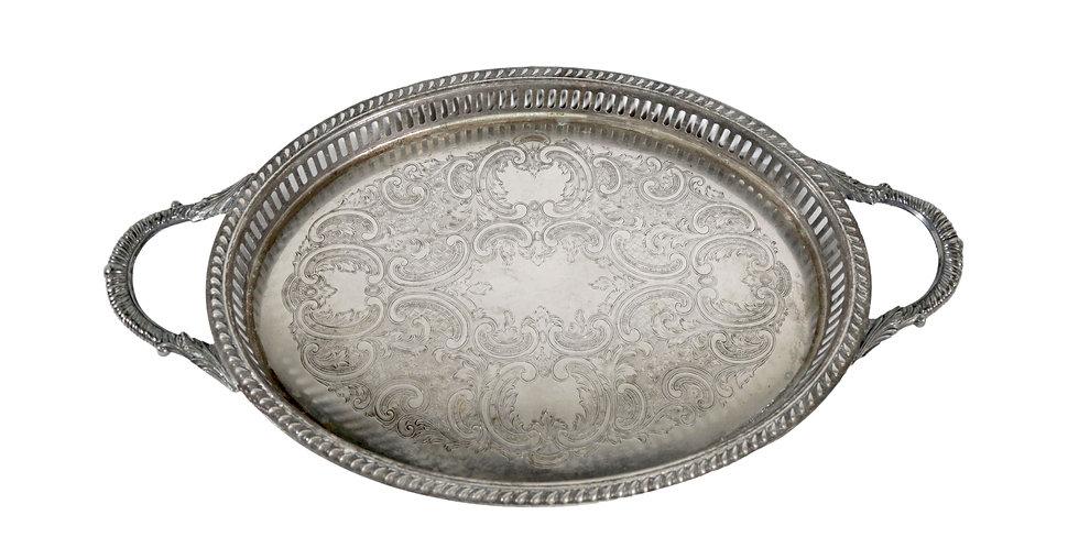 Jasper Large Silver Tray