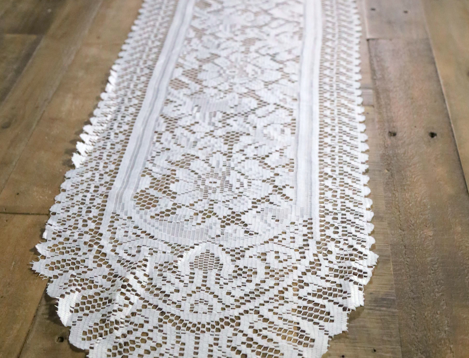 Ivory Lace Runners- Linens