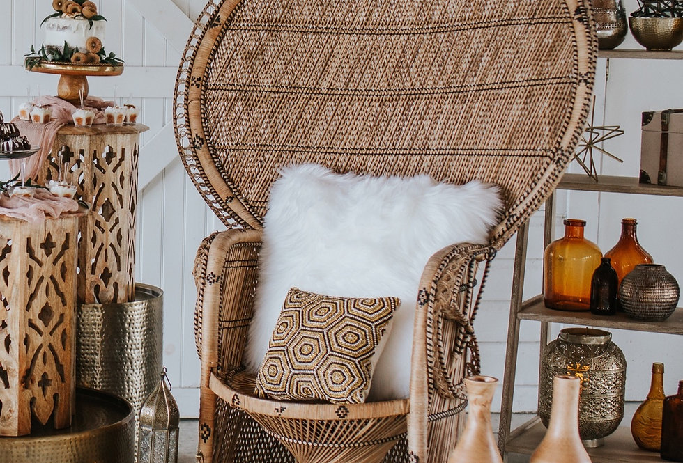Sweetheart Peacock Chairs (2)