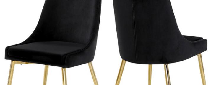 Nicole Black Velvet Chairs