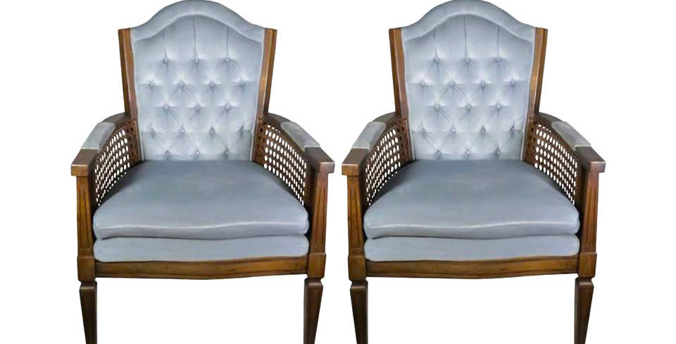 Dusty Blue Vintage Chairs