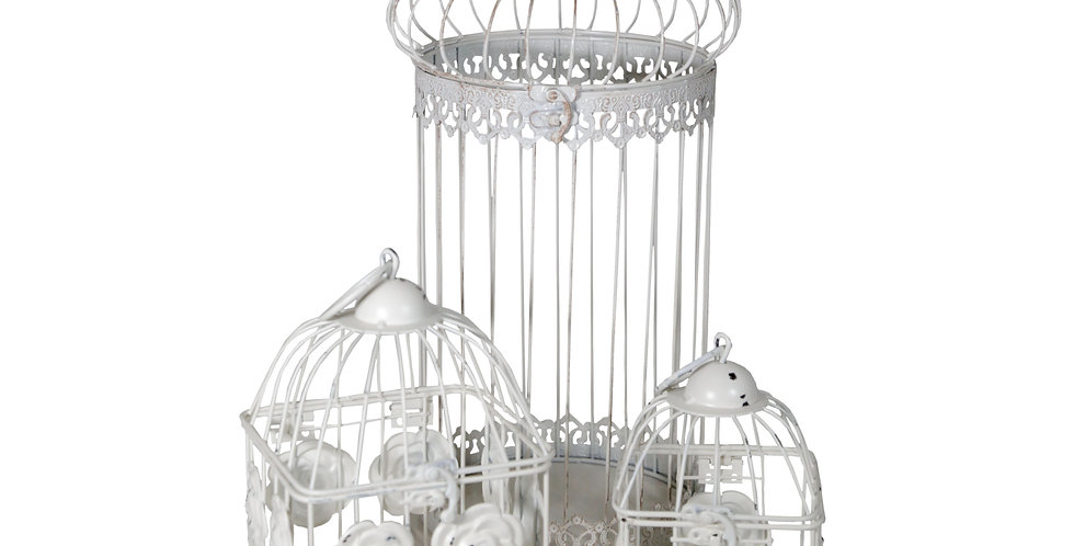 Assorted White Bird Cages