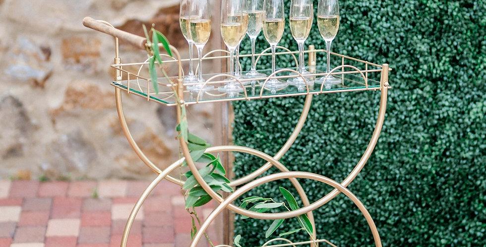 Amanda Gold Bar Cart